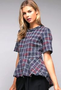 DO+BE Tweed Peplum Top